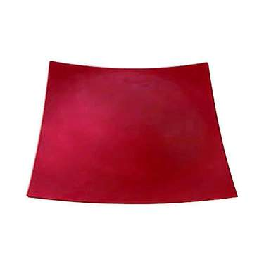 """Red Lacquer Charger 12"""" Square"""