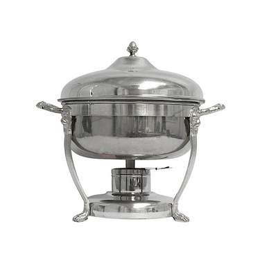 Round Silver Chafer 6qt