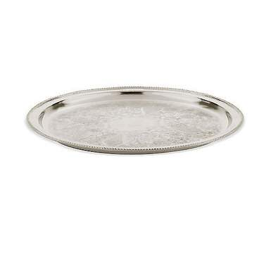 Round Silver Tray 14""