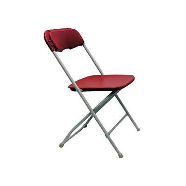 Red Samsonite Folding Chair