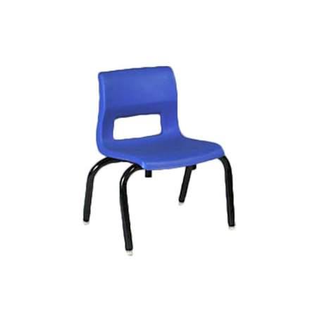 royal blue chair w black metal legs