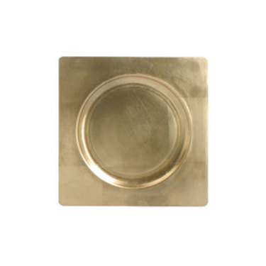 Square Gold Lacquer Charger