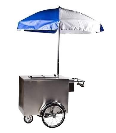 Ice Cream Cart w/ Umbrella
