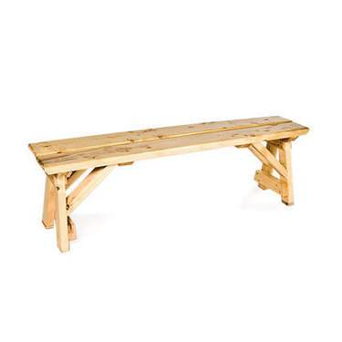 Natural Wood Bench 5'