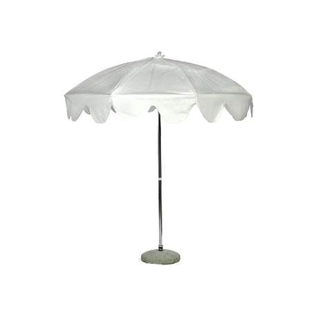 White Garden Umbrella 7'