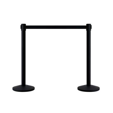 Retractable Black Stanchion 9'