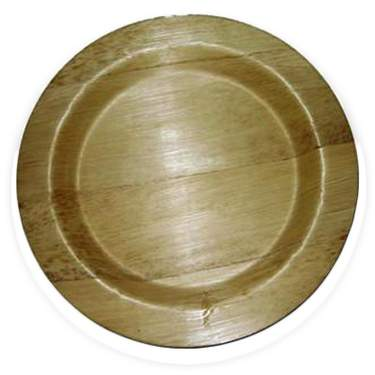 "Bamboo Round Plate 9"" (400 Case)"