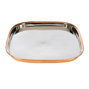 Hammered Copper Tray 16 3/8""