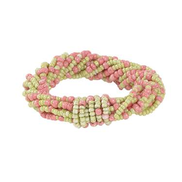 Lime/Pink Twist Napkin Ring