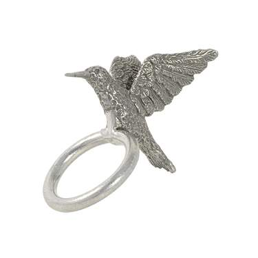Pewter Hummingbird Napkin Ring