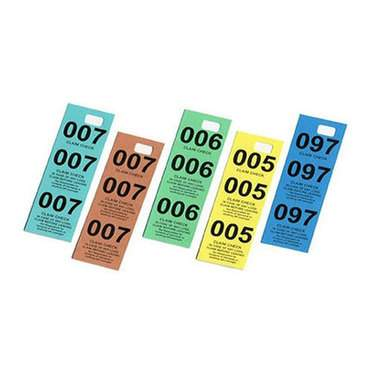 Coat Check Ticket (Pack Of 100)