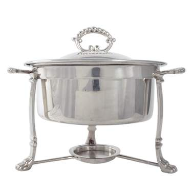 Round Silver Chafer 4qt