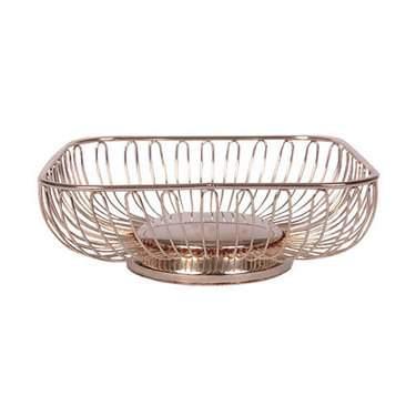 Round Scalloped Bread Basket