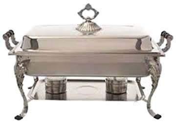 Silver Rectangular Chafer 8qt