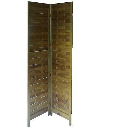Screen Natural Wood Folding 2-Panel (8' X 5')