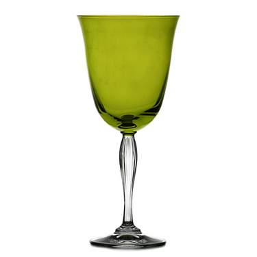 Lido Lime Water Goblet