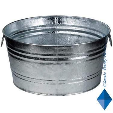 Round Galvanized Beverage Tub 18gal