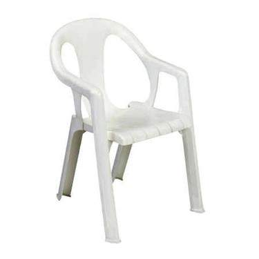 White Stacking Chair w/ Arms