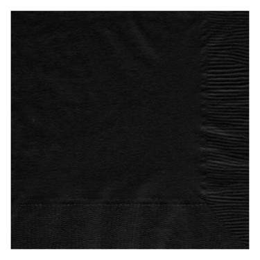 Jet Black 2-Ply Paper Dinner Napkin (50 Pack)
