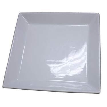 """White Coupe Porcelain Platter 16"""""""
