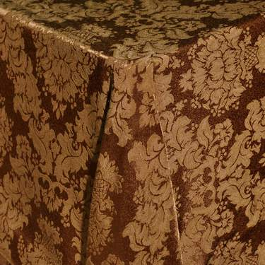 Damask Gold Bark Table Linen