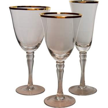 Venice Gold Glassware Pattern