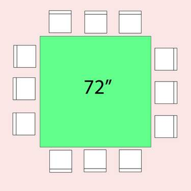 Table Square 72""