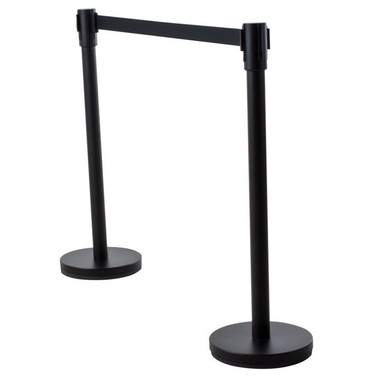 "Retractable Black Stanchion 7' L x 40""H"