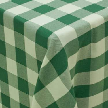 Poly Moss Green & White Check