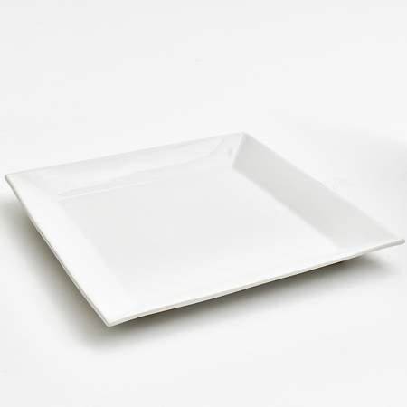 White Square Porcelain Platter 14\  & White Square Porcelain Platter 14\