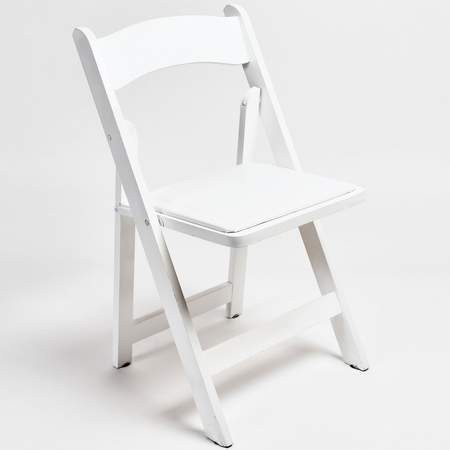 White Resin Folding Chair & White Folding Chair Rental | Chair Rentals