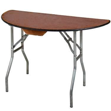 "Table Half Round  48"""