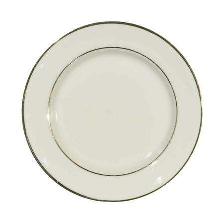 Ivory Double Gold Band Dinner Plate 10\   sc 1 st  CE Rental & Ivory Double Gold Band Dinner Plate 10\