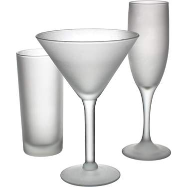 Satin Frost Glassware Pattern
