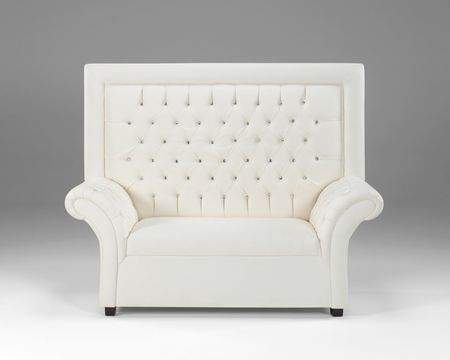 Crystal White Loveseat  High Back High Back Loveseat U39
