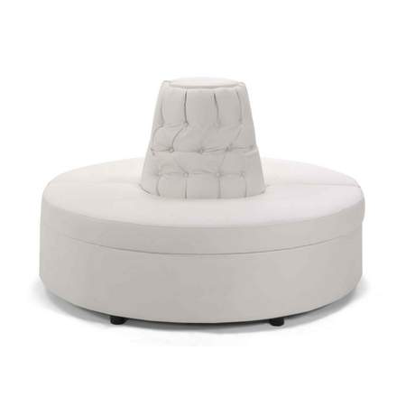 Attractive Whisper White Leather Banquette