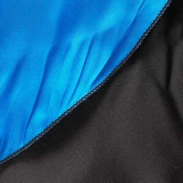 "Linen Harlow Poly Satin Blue/Black 20"" Round Napkin"