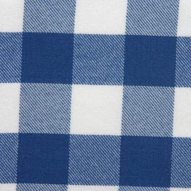 Poly Check Blue & White