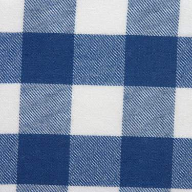 Poly Royal Blue & White Check