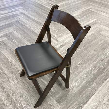 Walnut Wood Padded Folding Chair