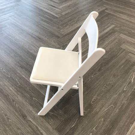white padded folding chair rentals chair rentals