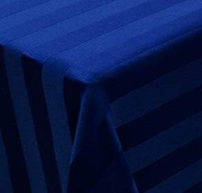 Poly Navy Blue Satin Stripe