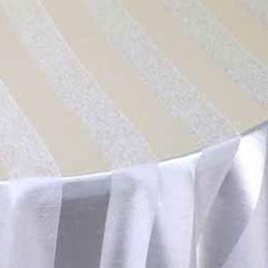 Shantung Stripe White