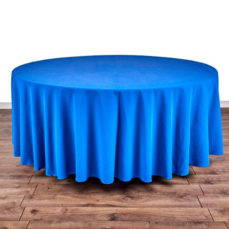 """Table Round 66"""" with 120"""" round Linens"""
