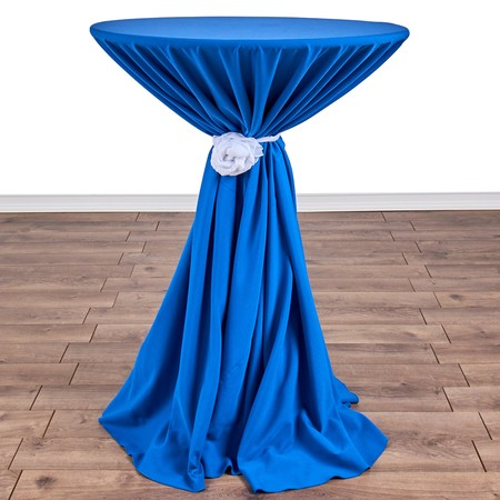 "Nirvana Navy 132"" rd with 30"" round (42""H) Tables"