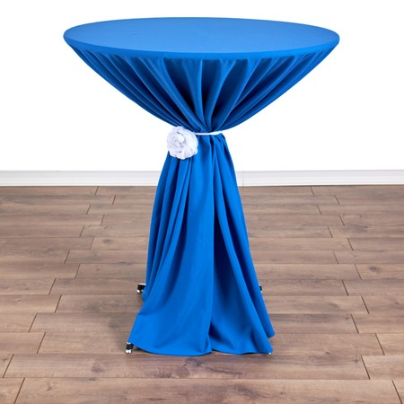"Nirvana Navy 132"" rd with 36"" round (42""H) Tables"