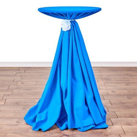 "Nirvana Navy 132"" rd with 24"" round (42"" H) Tables"