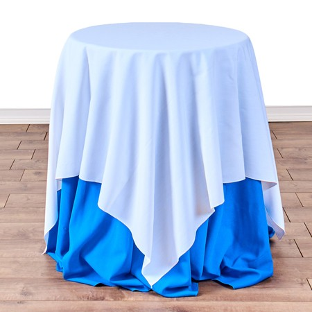 "Table Round Pedestal 24"" with 54"" x 54"" Linens"